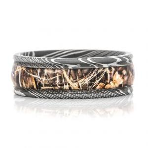 Realtree Camo Ring Damascus Steel Max-5
