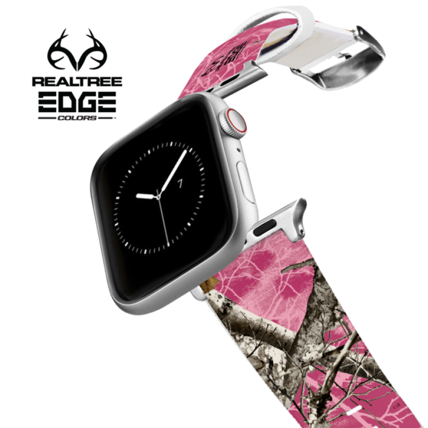 Realtree EDGE Pink Apple Watch Band