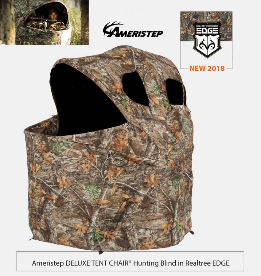 Ameristep Deluxe Tent Chair Hunting Bind in Realtree EDGE