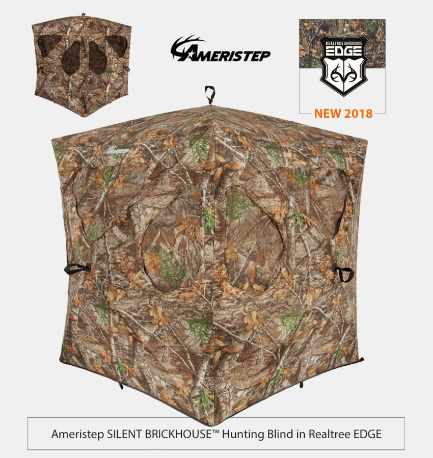 Ameristep Silent Brickhouse Hunting Blind in Realtree EDGE