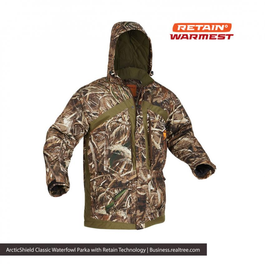 94ce2febf7a63 ArcticShield Classic Waterfowl Parka with Retain Technology | Realtree B2B.  Prois Galleann Rain Jacket