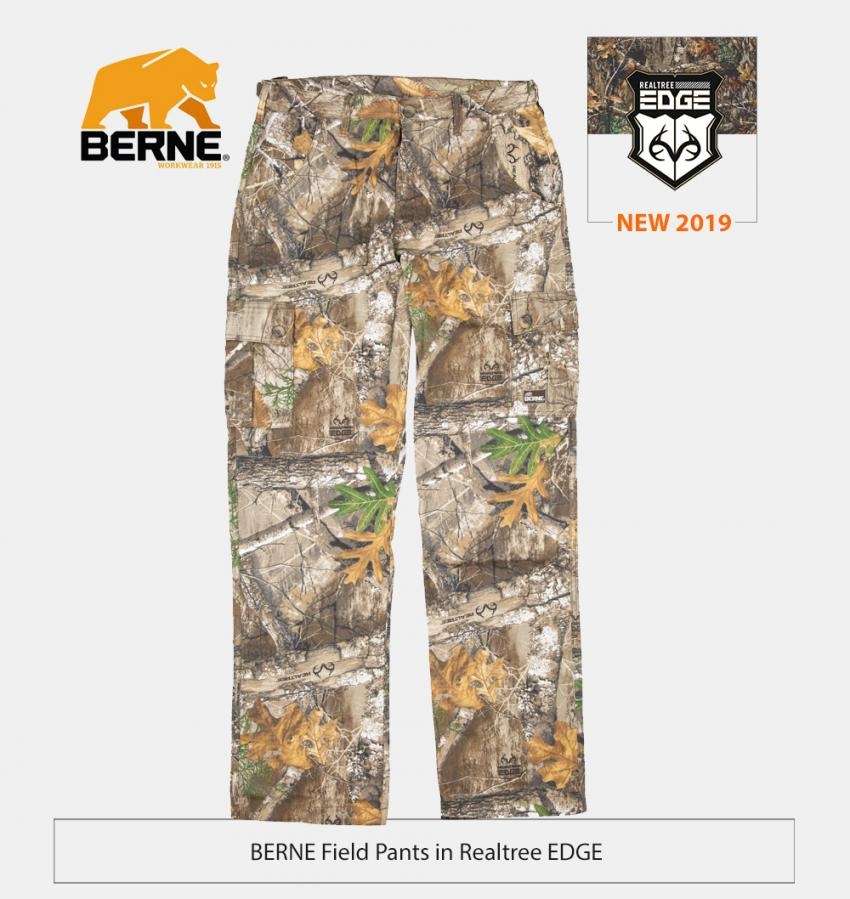 Berne the field pants in Realtree EDGE