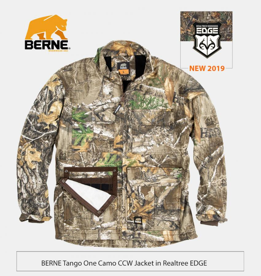 Berne tango one one camo CCW jacket in Realtree EDGE