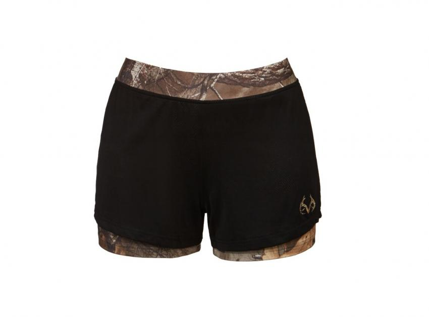 Realtree women's Activewear camo layer shorts | Realtree B2B