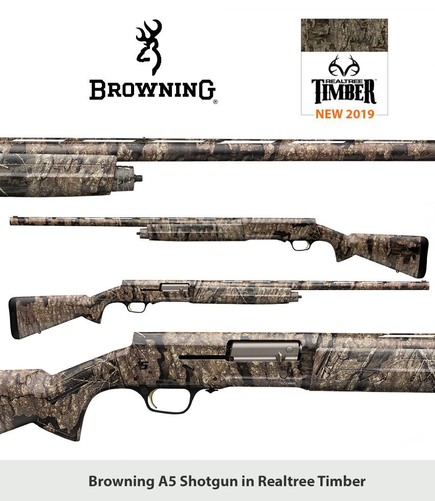 Browning Offers Maxus and A5 Shotguns in Realtree Timber Camo