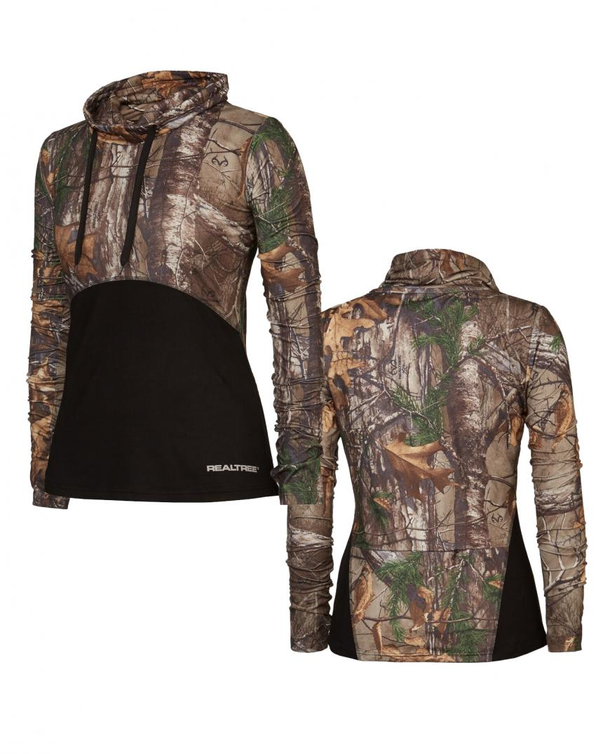 Realtree women's Activewear Camo long Neck shirt  | Realtree B2B