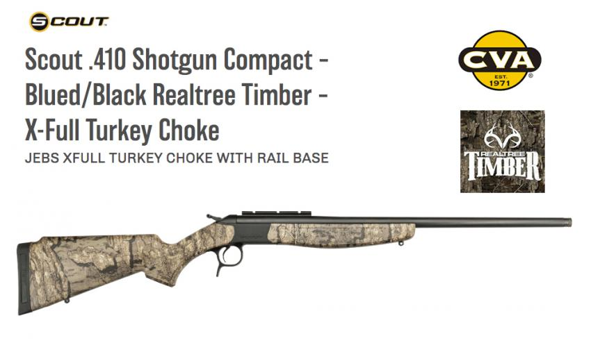 cva scout 410 shotgun compact realtree timber