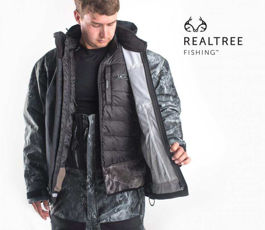 Drake removable Liner for the 3-Layer Systems Jacket in Realtree Fishing
