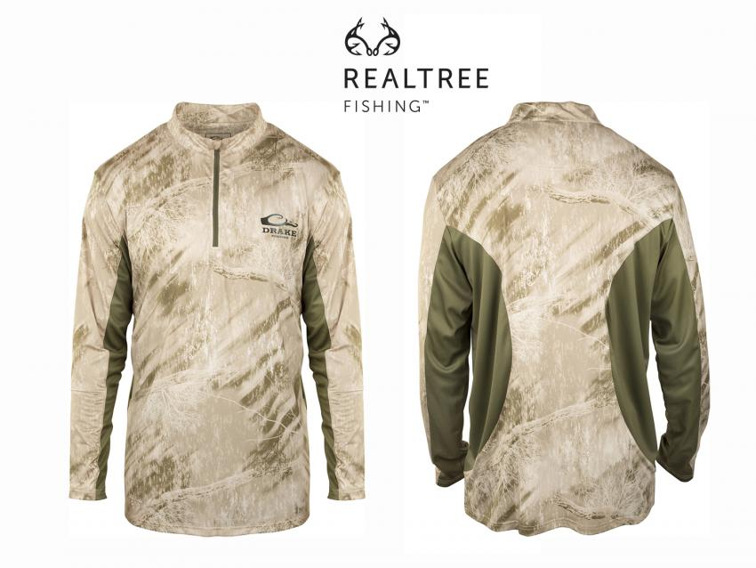 Drake Long Sleeve Mesh Back Crew Neck in Realtree Fishing | ICAST 2018