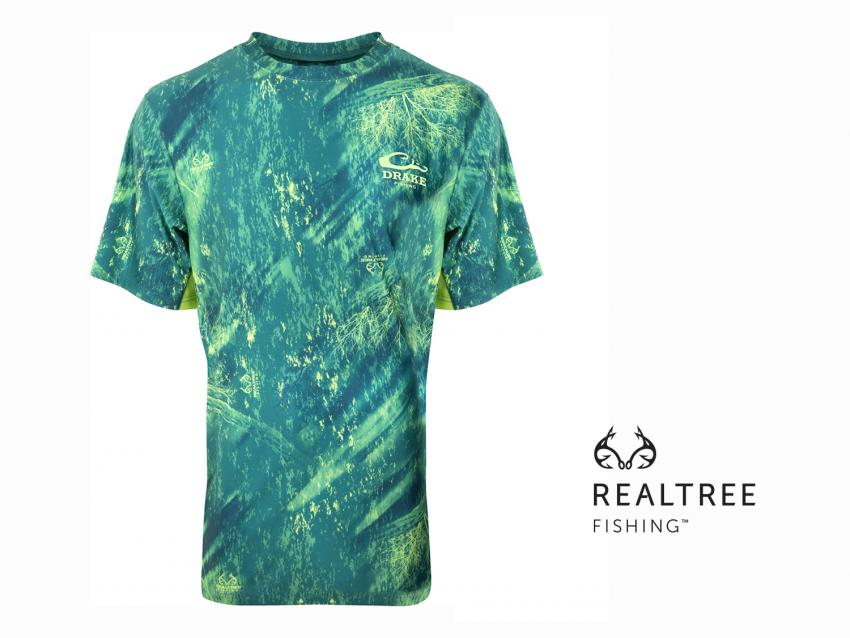 Drake Short Sleeve Crew Neck in Realtree Fishing | ICAST 2018