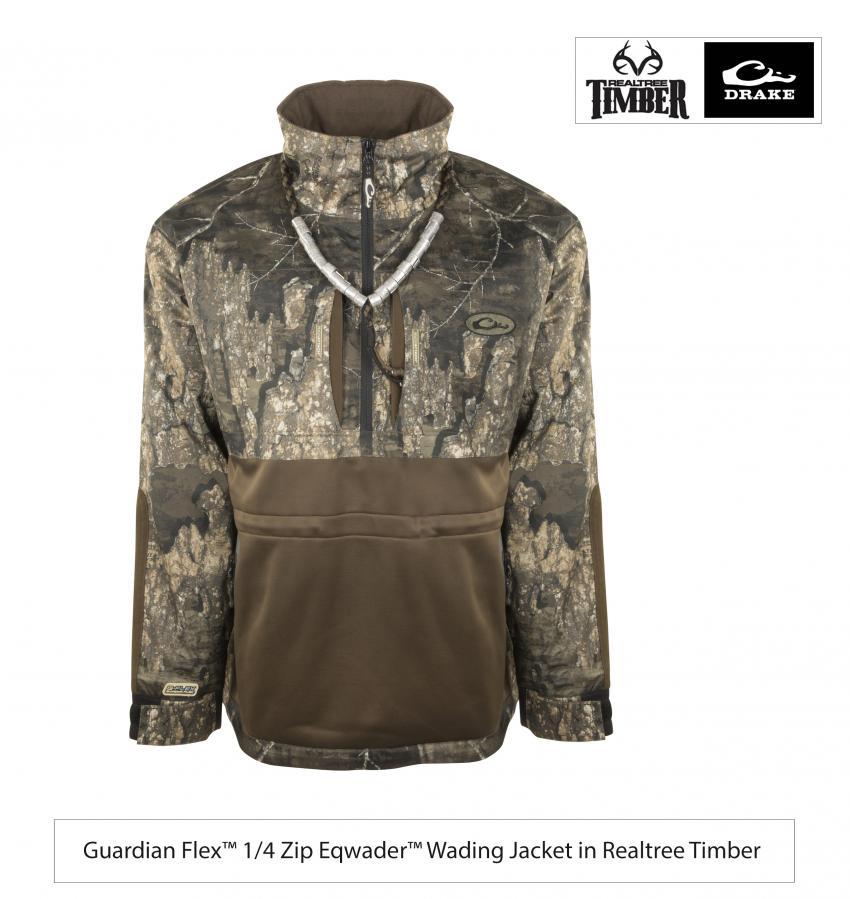 Large Realtree Timber Drake Guardian Flex Full Zip Eqwader Jacket Realtree Timber