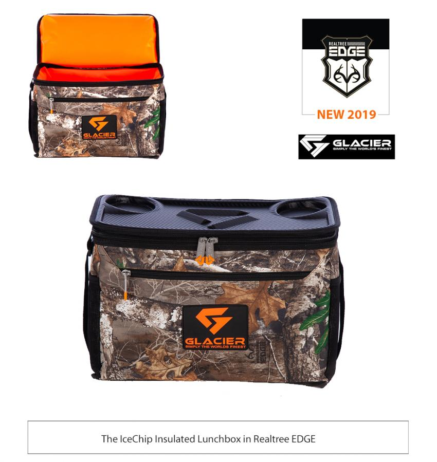 Glacier Cooler Realtree EDGE 2019 -  IceCube Insulated Lunchbox in Realtree EDGE and Realtree Fishing Blue
