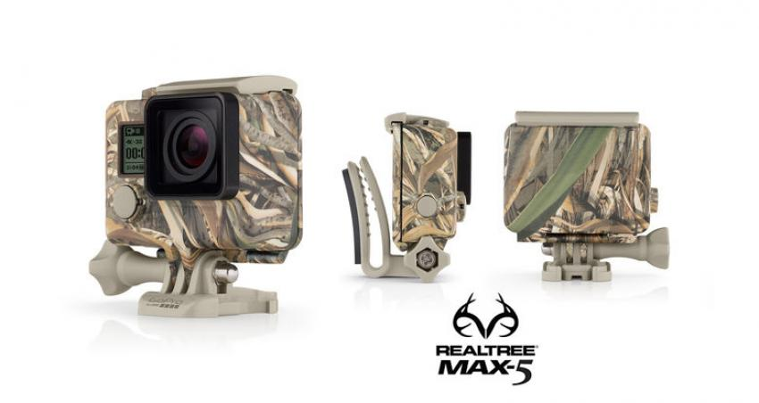 GoPro Realtree Max-5 Camo Housing + Quick Clips