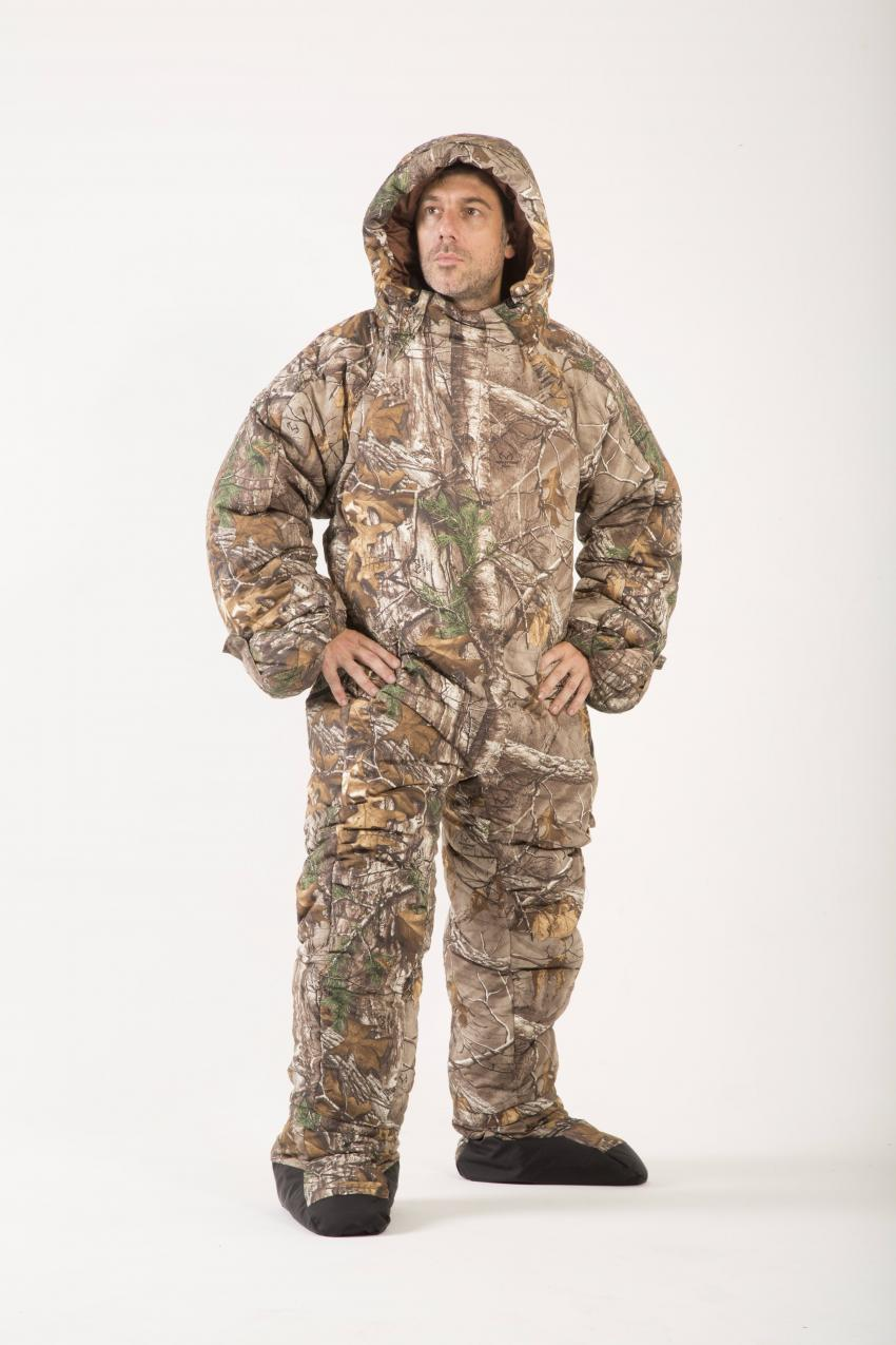 ancient inspiration leads to camo sleeping bag suit. Black Bedroom Furniture Sets. Home Design Ideas