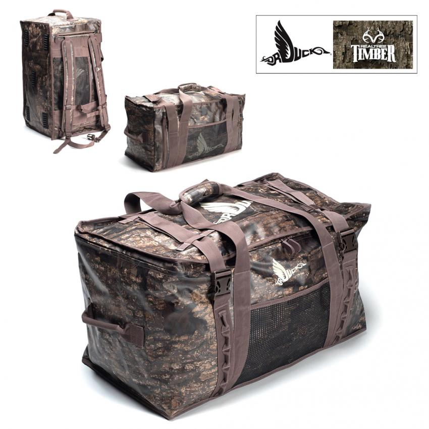 Dr. Duck Realtree Timber Landing Zone Weather Proof Duffel Bag