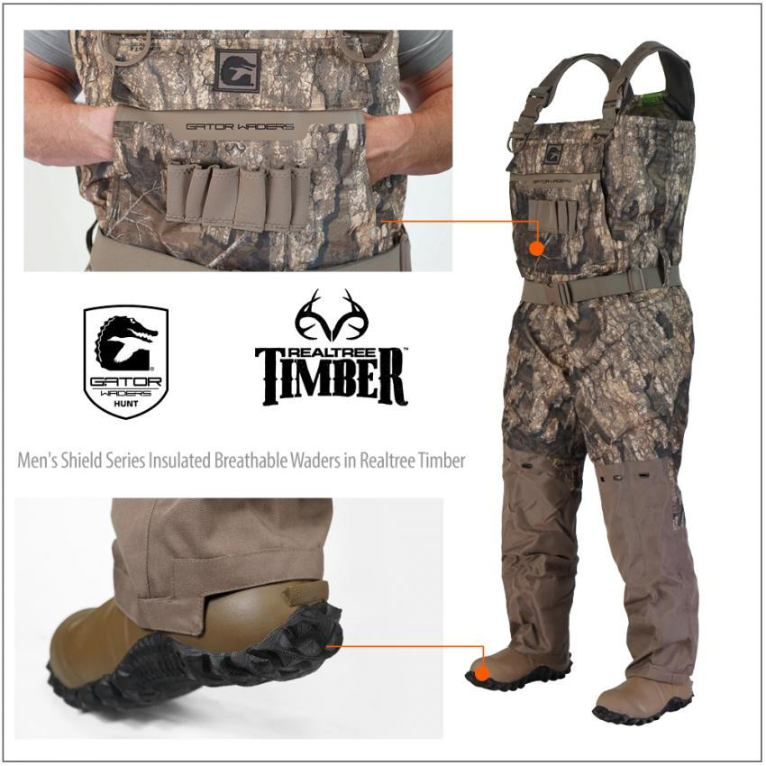 Men's Shield Series Insulated Breathable Waders in Realtree Timber