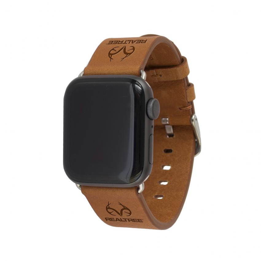 Realtree logo affinity leather apple watch bands