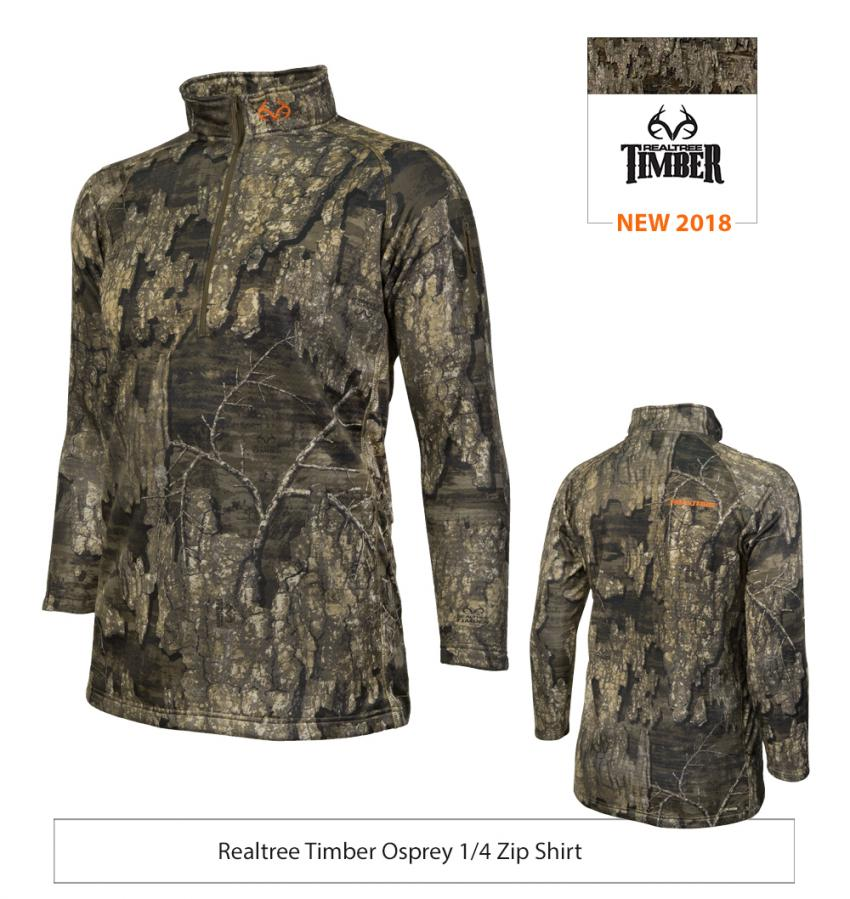 Realtree Timber Osprey 1/4 Zip Shirt | Realtree EDGE