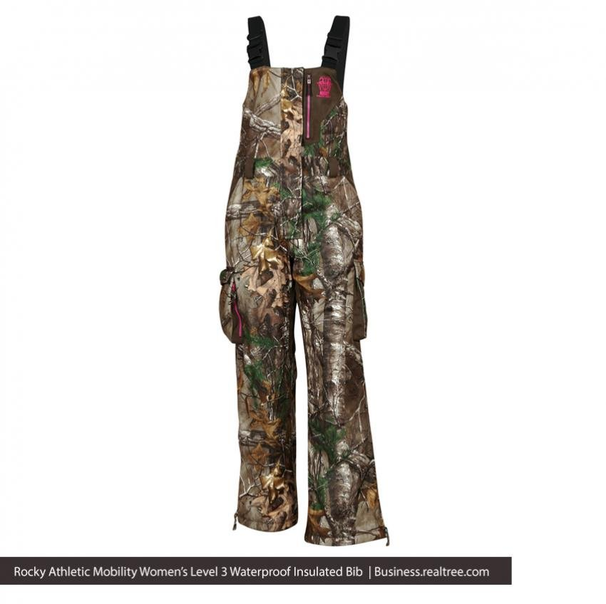Rocky Athletic Mobility Women's Level 3 Waterproof Insulated Bib | Realtree B2B