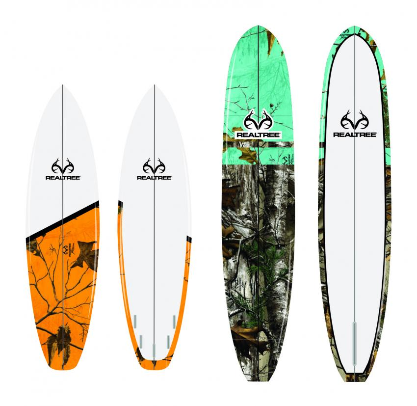 Realtree Color Pattern surfing boards | Realtree B2B