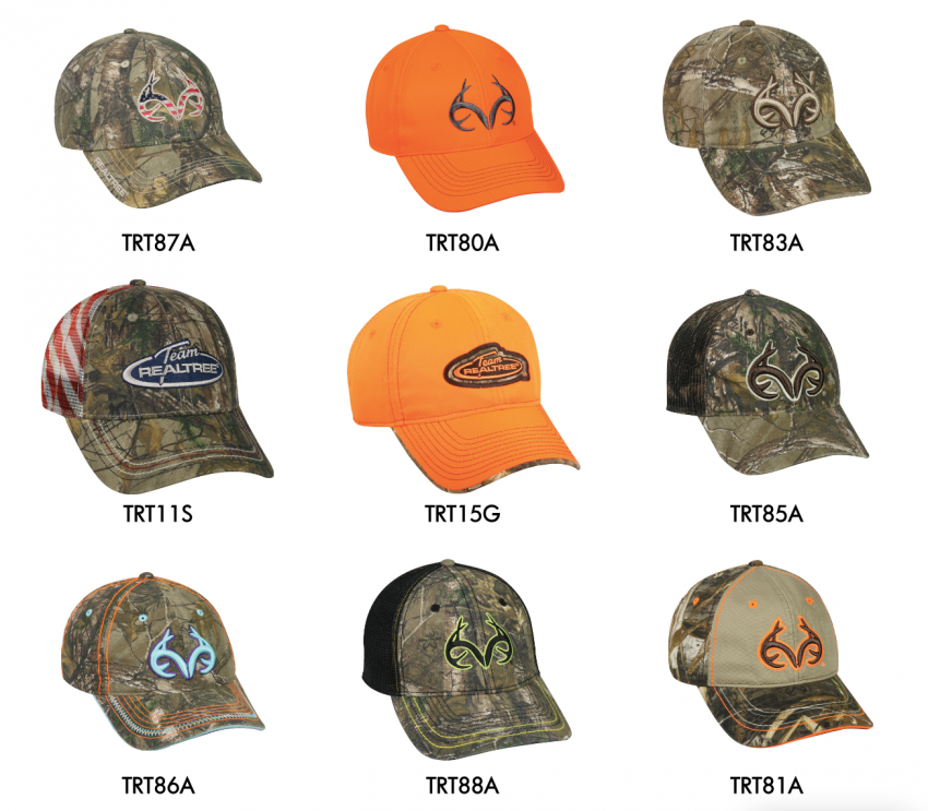Realtree Camo Caps and Hats 2017