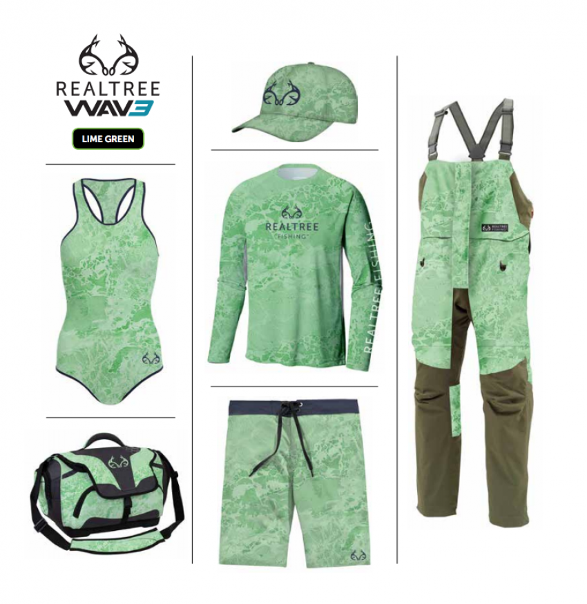 Realtree WAV3 Fishing - Lime