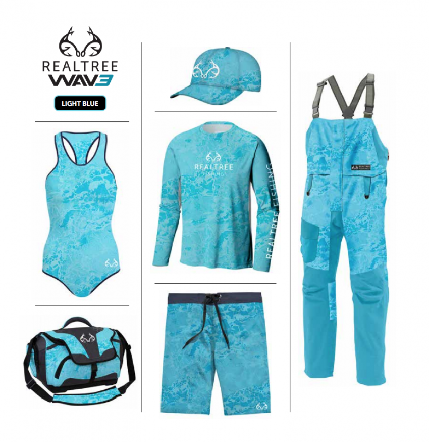 Realtree WAV3 Fishing - Blue