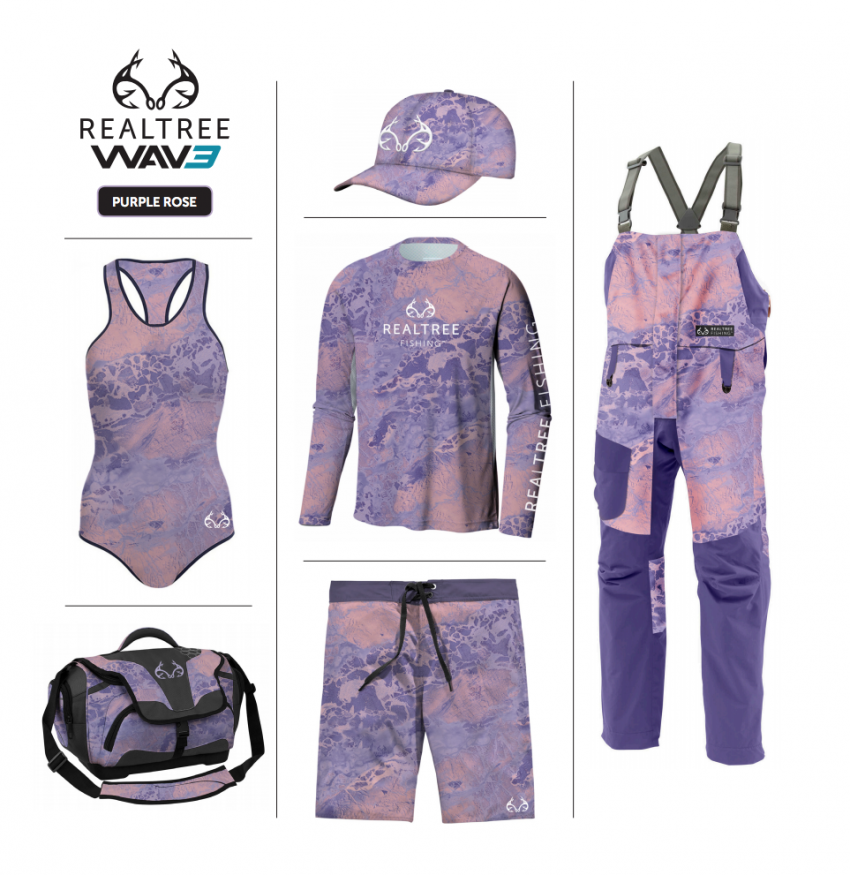 Realtree WAV3 Fishing - Purple Rose