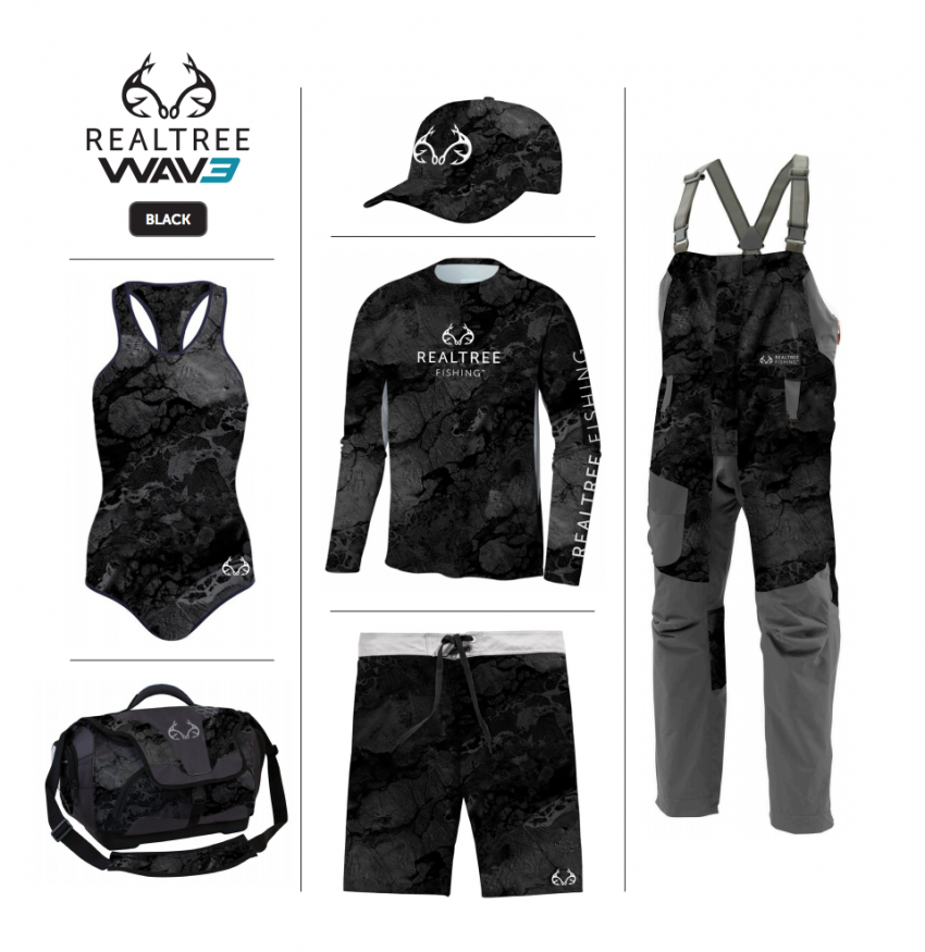 Realtree WAV3 Fishing - Black