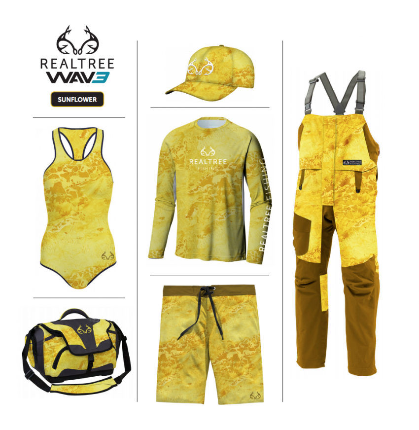 Realtree WAV3 Fishing - Yellow