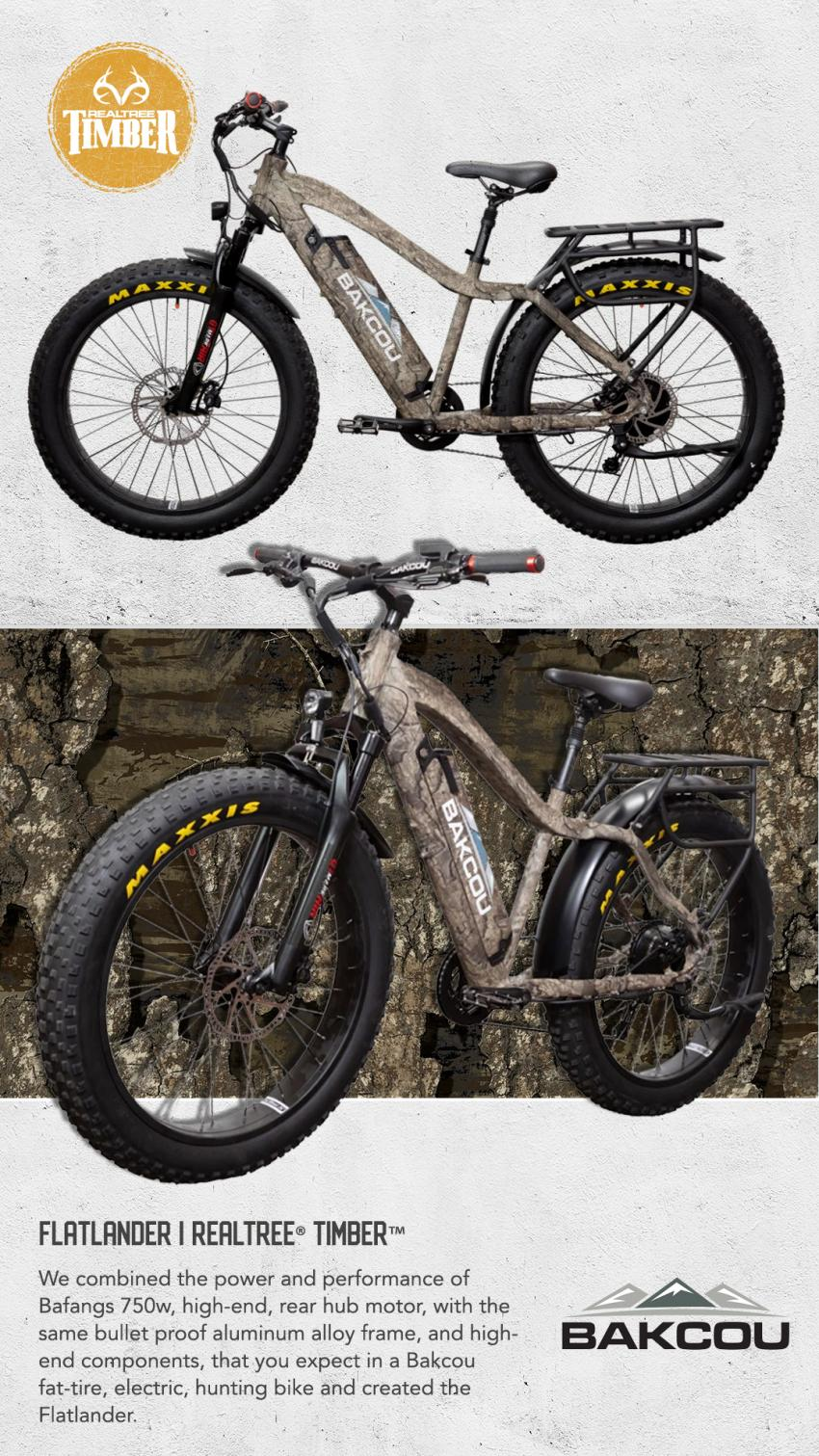 Bakcou Flatlander Hunting E-bike in Realtree Timber
