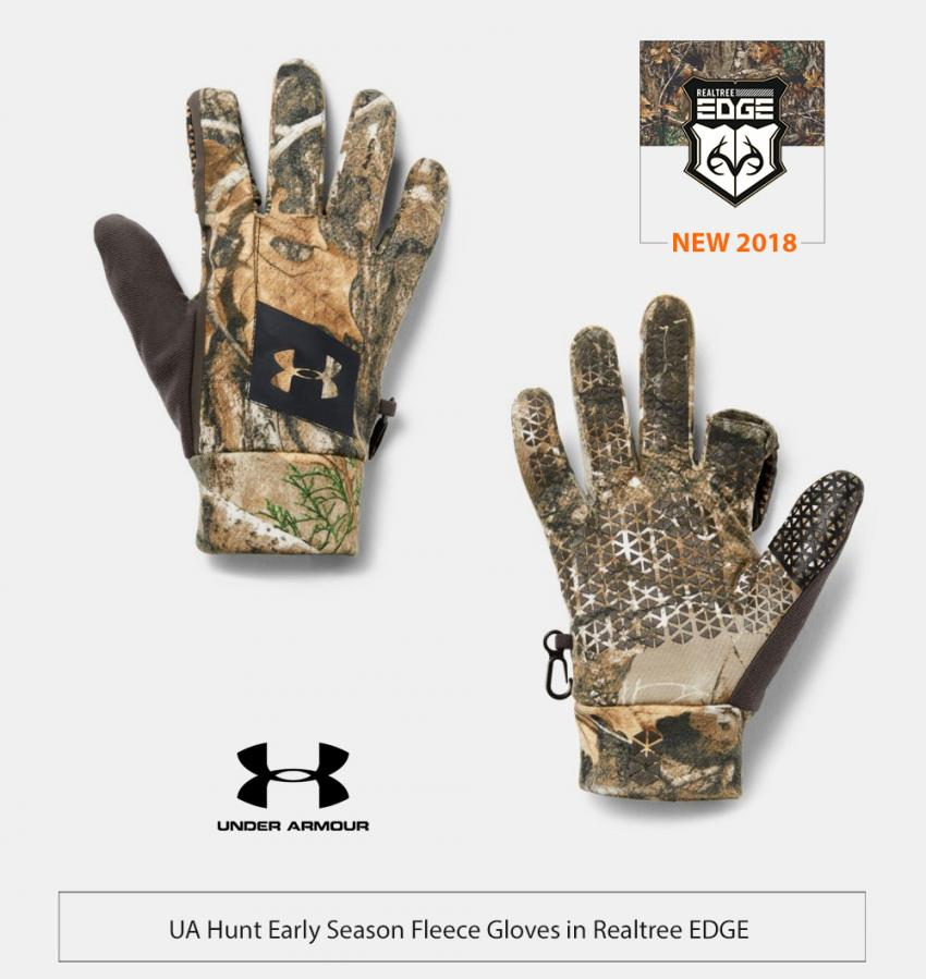 UA Early Season Fleece Gloves in Realtree EDGE | Realtree Business