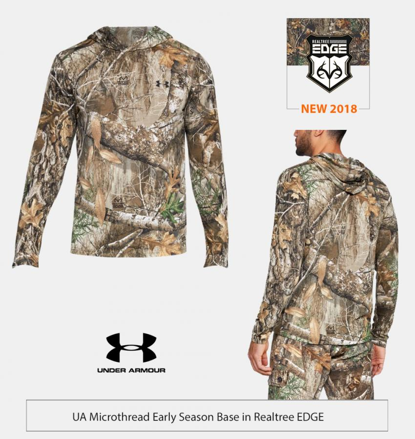 UA Michrothread Hunting Hoodie in Realtree EDGE | Realtree Business