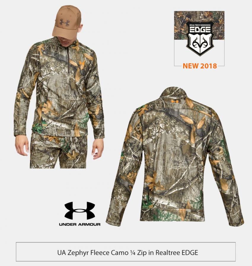 UA Hunting Fleece 1/4 Zip Shirt in Realtree EDGE | Realtree Business