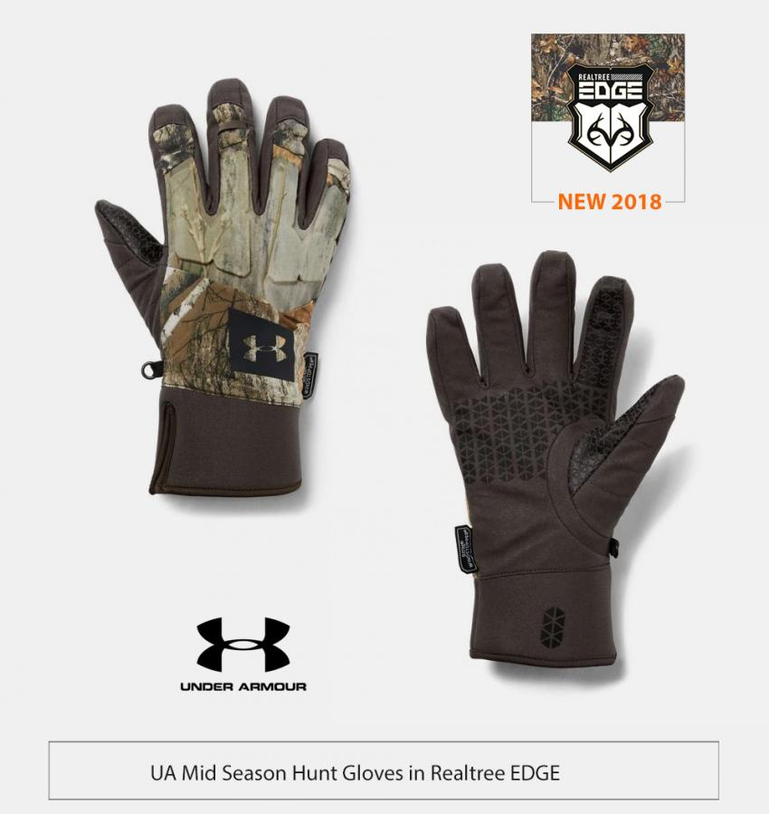 UA Mid Season Gloves in Realtree EDGE | Realtree Business
