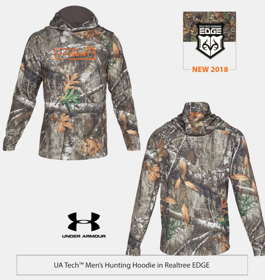 UA Terry Camo Hunting Hoodie in Realtree EDGE | Realtree Business