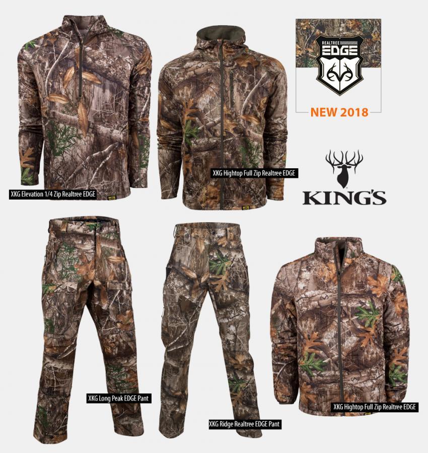 King/'s Camo Kids Realtree Edge Classic Cotton Long Sleeve Tee Shirt