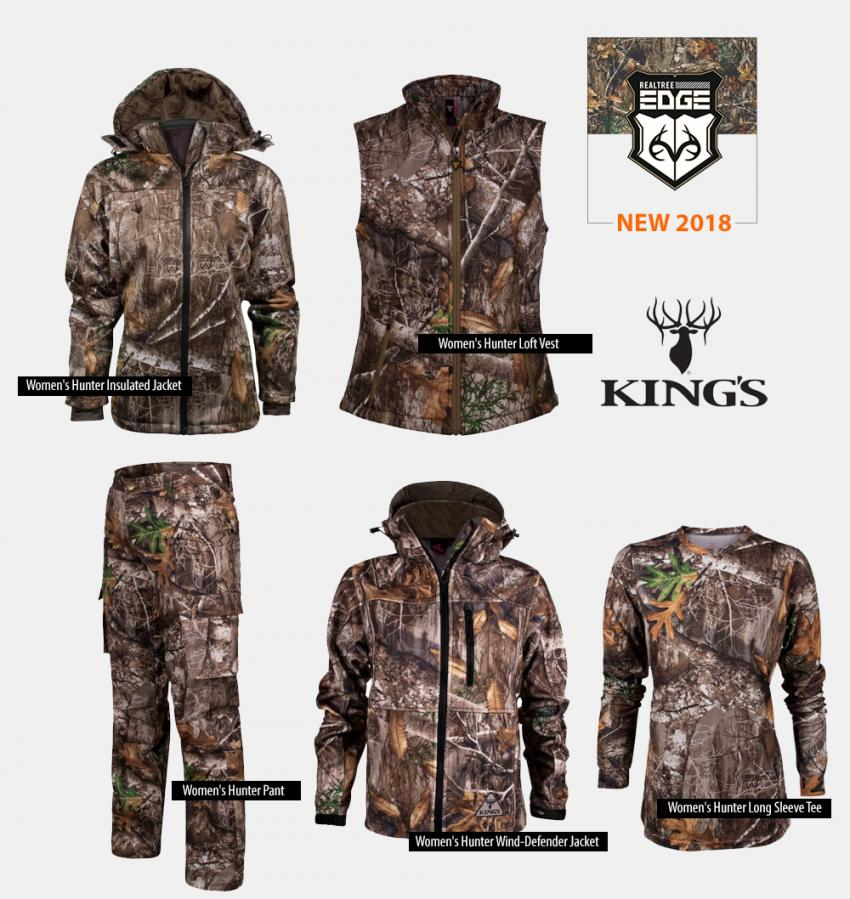King's Camo Realtree EDGE Women Hunting Clothing 2018