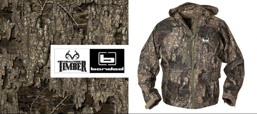 54831d666b9c1 Waterfowlers will be hitting the marshes this season with a new advantage –  BANDED waterfowl apparel decorated in Realtree's newest Timber camouflage  ...