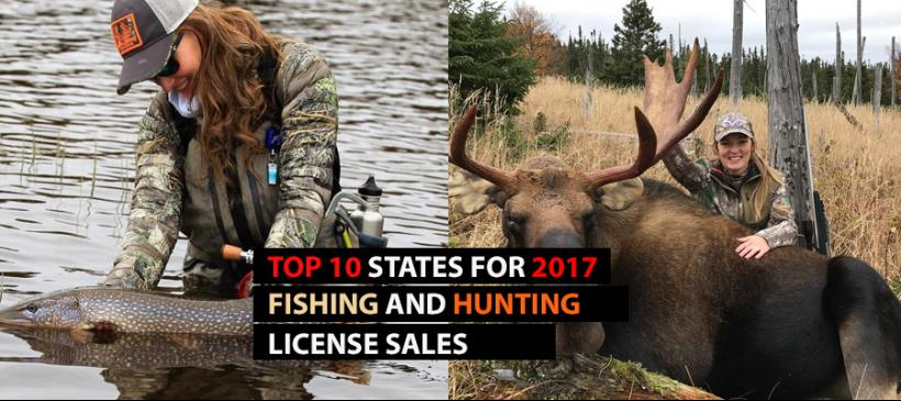 Top 10 States For Fishing And Hunting License Purchases Realtree B2b